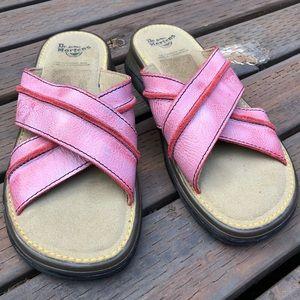 Dr. Martens slip on sandals pink size 6